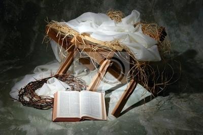 Historia Bożego Narodzenia z otwartej Biblii Jana 3:16