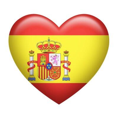 Naklejka Hiszpański Insygnia heartshape