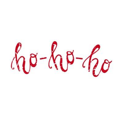 Ho ho ho Handdrawn Christmas napis