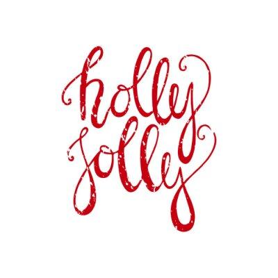 Holly Jolly Christmas napis handdrawn