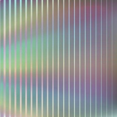 Holograficzna folia tekstura efekt tła. Wektor opalizujący wzór gradientu. Metalowy hologram pasiasty szablon okładki, broszury, projekt zaproszenia.