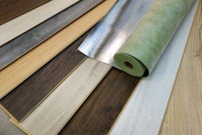 home improvement - laminate flooring samples and underlay