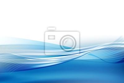 Horizon bleu vague