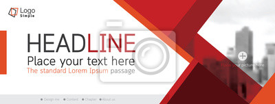 Naklejka Horizontal web banner, vector template, with space for your picture
