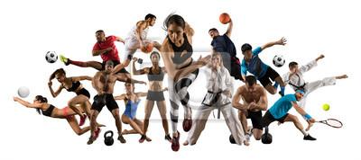 Naklejka Huge multi sports collage athletics, tennis, soccer, basketball, etc