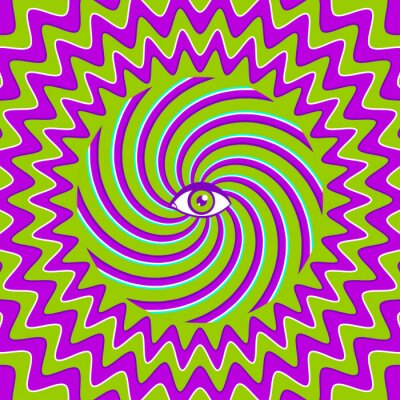 Naklejka Hypnotic retro plakat