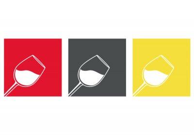 Naklejka Icono plano copa de vino # 3
