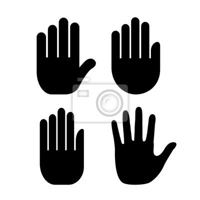 Naklejka Ikona dłoni ludzką ręką
