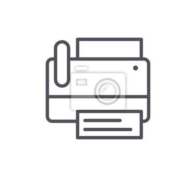 Ikona linii faksowej