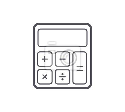 Ikona linii kalkulatora