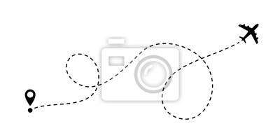 Naklejka Ikona linii linii wektor podróży samolotem linii