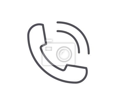 Ikona linii telefonicznej