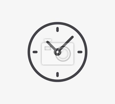 Ikona linii zegara. Edytowalny skok.