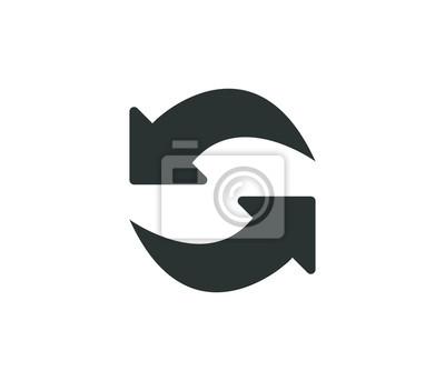 Naklejka Ikona nowoczesnej wymiany