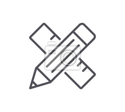 Ikona Ołówek i linijki