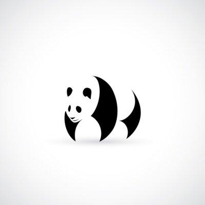 Naklejka ikona Panda