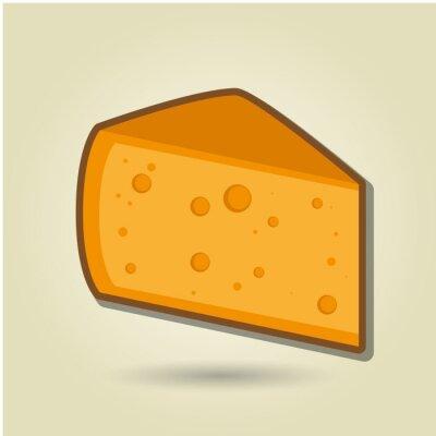 Naklejka ikona projektowania sera