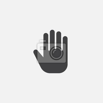 Naklejka ikona ręcznie