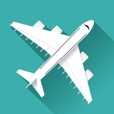 Naklejka Ikona samolotu projektowania