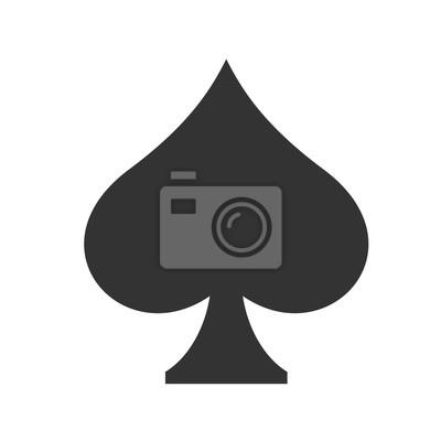 Naklejka Ikona Spades. Proste płaskie logo pik znak na białym tle. ilustracji wektorowych.