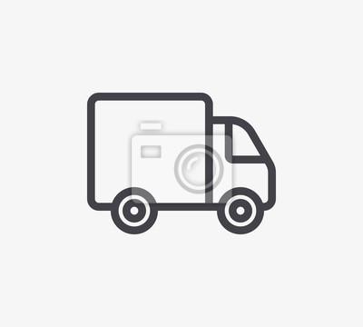 Ikona Truck Line. Edytowalny skok.