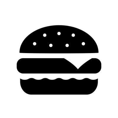 Naklejka Ikona wektor Burger