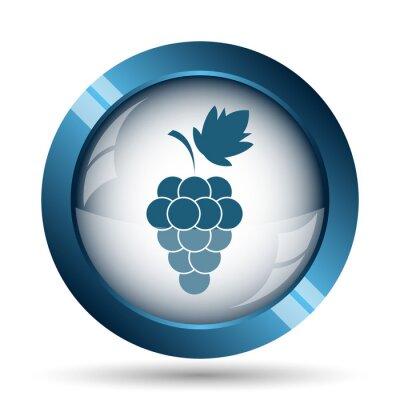 Naklejka ikona winogron