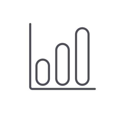 Ikona Wzrostu Linii