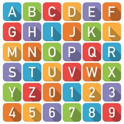 Naklejka Ikony alfabet