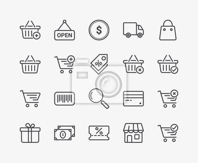 Ikony Commerce Line. Edytowalny skok. Wysoka jakość obrazu 48x48 pikseli.