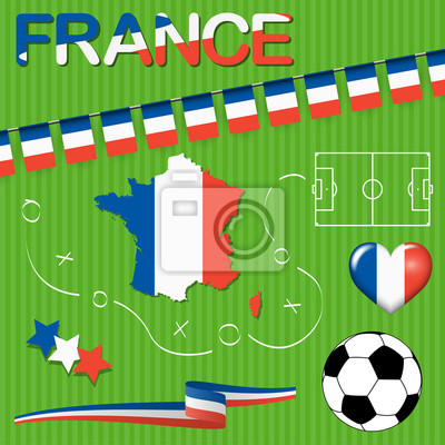 ikony piłki nożnej Francja Europa kolekcji