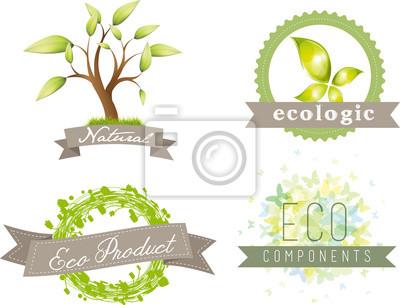 Naklejka Ikony zielonej energii
