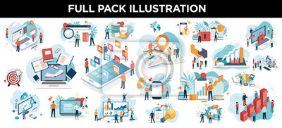 Naklejka illustration business