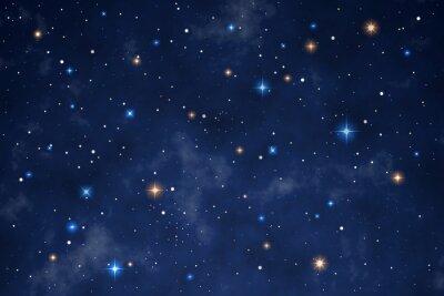 Naklejka Illustration of a beautiful night sky