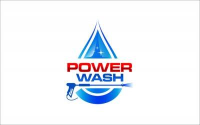Naklejka Illustration vector graphic of pressure power wash spray logo design template