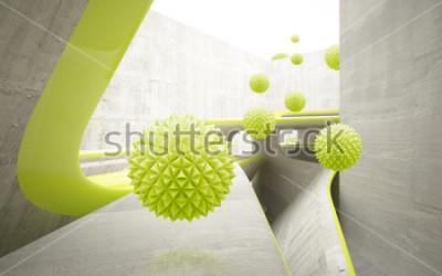 Naklejka Ilustracja 3D zielony crystal ball wzór na tle tapety dekoracyjne 3D. Graficzna sztuka współczesna
