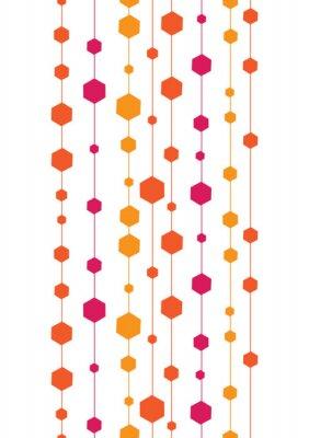 Naklejka Ilustracja abstrakcyjna kolorowe paski pionowe bez szwu i kształty