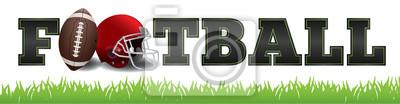 Naklejka Ilustracja American Football Word Art