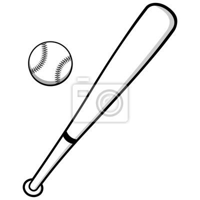 Ilustracja Baseball i Bat
