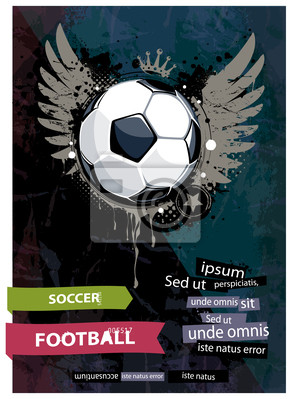 Ilustracja grunge piłka nożna