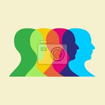 Naklejka ilustracja interakcji społecznych