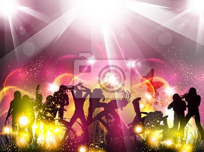 Ilustracja jasny kolor Party