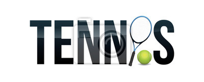 Ilustracja koncepcja słowo tenis koncepcja