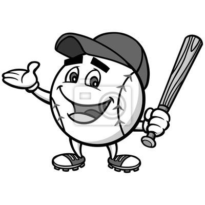 Ilustracja Mascot Baseball