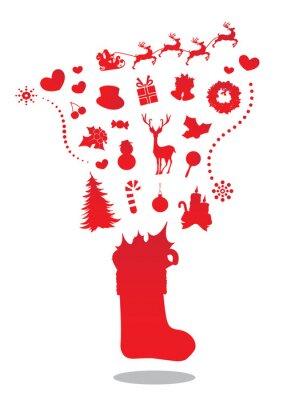 Ilustracja Merry Christmas skarpety Vector