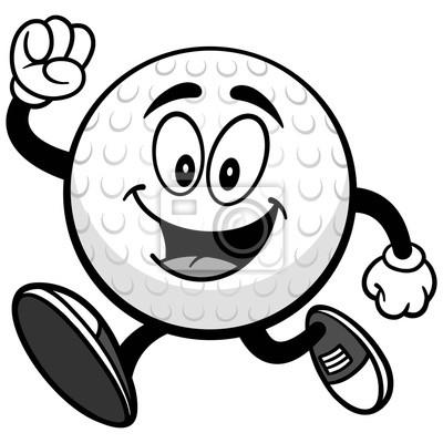 Ilustracja piłka golfowa