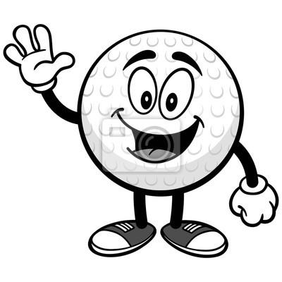 Ilustracja piłka golfowa macha