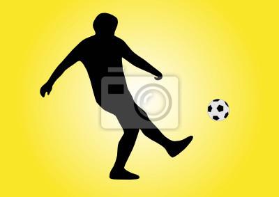 ilustracja piłkarz fotografowania piłki