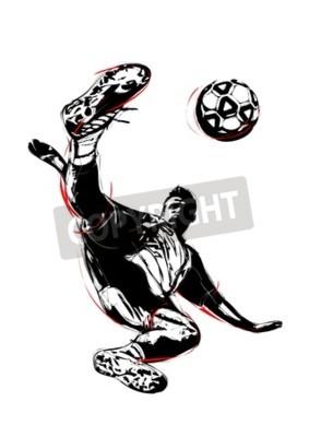 ilustracja piłkarz woleja