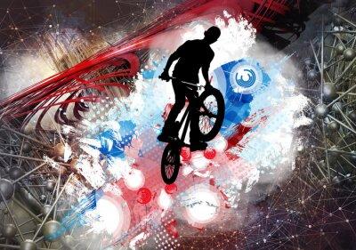 Naklejka Ilustracja rowerowa bluza